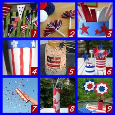 A bunch of 4th of July crafts for the kids...could be fun for mom too!  LOL