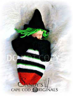 Items similar to Witch from the East Cocoon Inspired by the Wizard of Oz Crochet Pattern PDF 585 on Etsy Crochet Baby Cocoon, Crochet Kids Hats, Baby Blanket Crochet, Crochet Baby Halloween, Baby Bunting Bag, Halloween Hats, Baby Costumes, Crochet Costumes, Wizard Of Oz