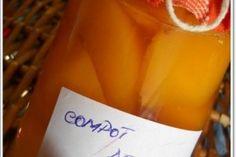 Compot de piersici - Culinar.ro Gem, Wine, Drinks, Bottle, Tableware, Desserts, Food, Canning, Salads