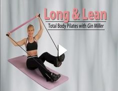 Long & Lean Toning Bar DVD with Gin Miller - Exercise - Portable Pilates Bar Kit with Resistance Band Exercise Stick🔥Last Day – Sabinevv - Abs Pilates, Pilates Band, Pilates Workout Videos, Pilates At Home, Pilates Video, Pilates For Beginners, Pilates Reformer, Pilates Studio, Beginner Pilates