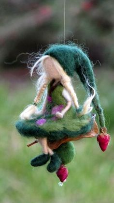 Needle felted Waldorf inspired Mobile Ornaments