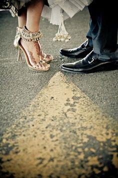 Indian Wedding Photography...heels & henna