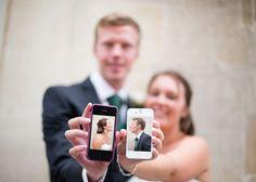 Novios / foto bodas / foto con celular