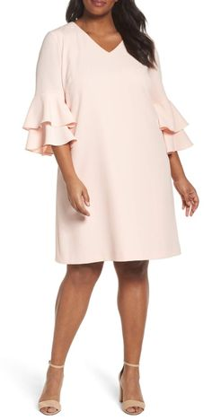 39 Plus Size Spring Wedding Guest Dresses {with Sleeves} - Plus Size Party Dress - alexawebb - Wedding interests Plus Size Wedding Guest Dresses, Plus Size Party Dresses, Trendy Dresses, Plus Size Outfits, Wedding Party Dresses, Plus Size Blush Dress, Long Dresses, Dresses Dresses, Dress Party
