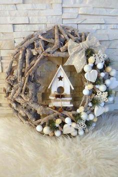 With little effort you make yourself the most beautiful Christmas and winter decoration e - Weihnachtsdeko draussen ☃️ - Weihnachten Noel Christmas, Rustic Christmas, Winter Christmas, Christmas Ornaments, Christmas Projects, Holiday Crafts, Party Crafts, Christmas Ideas, Holiday Wreaths