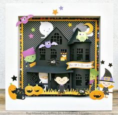 Shadow Box: Halloween Parade Collection by Doodlebug Design. The house is a file from Silhouette Online Store (Marji Roy)