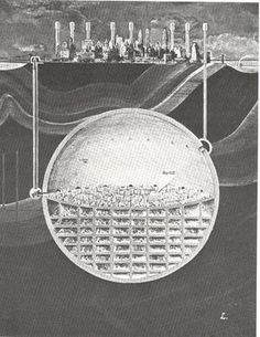 Oscar Newman's 1969 plan to hollow out an entire, nuclear-resistant city under Manhattan