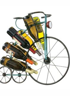 Blue Big Wheel Wine Rack