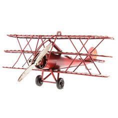 Red Tri-Level Metal Plane with Stars | Hobby Lobby | 343434