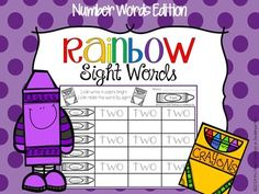 Rainbow Writing - Number Words FREEBIE