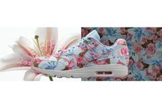 purchase cheap da0a7 20151 Nike Womens Air Max 1 Ultra QS 87 City Flower Paris Blue Pink Sh Air Max