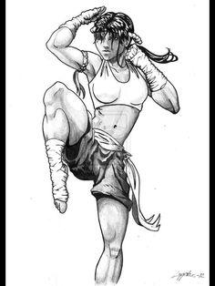 A Nak Muay drawing - A great artwork.