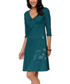 Another great find on #zulily! Bottle Green Rosalinda V-Neck Dress by Horny Toad #zulilyfinds