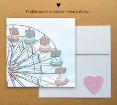 Blank photo card printed on recycled paper // shared with love // profits support charity // ferris wheel in Italy (©Nora Bo)