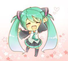 Chibi Hatsune Miku~ :3 so kawaii ^^