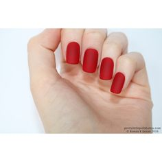 Matte red short square nails, Nail designs, Nail art, Nails, Stiletto... ❤ liked on Polyvore featuring accessories