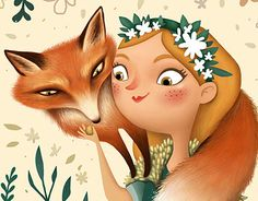 Little fox by Ana Varela Little Fox, Boy Dog, Princess Zelda, Disney Princess, Disney Characters, Fictional Characters, Folk, Illustration Art, Photos