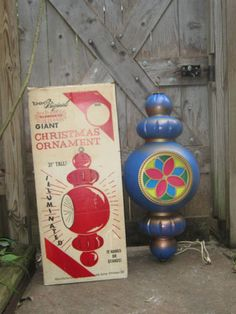"""I must have...... Vintage Beco Original Blow Mold Lighted 31"""" Christmas Ornament WWB"""