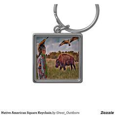 Native American Square Keychain