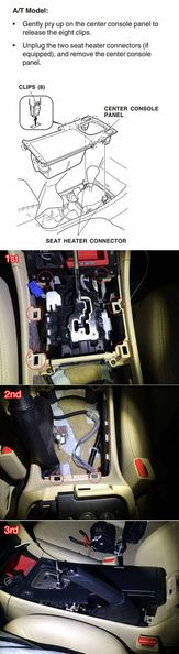Shift Boot Installation on a Automatic Acura TSX