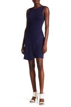 Scallop Skirt Ponte Sheath Dress