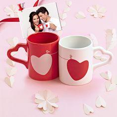 Two of Hearts Mug Set of 2 Sada valentýnských hrnků Oriflame Cosmetics, Mugs Set, Romantic, Tableware, Hearts, Painting, Collection, Love, Accessories