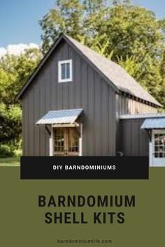Barndominium Shell - If you're looking for a one-page listing of DIY barndominium shell kits, look no farther. Prices, square feet, and descriptions. Metal House Plans, Barn House Plans, New House Plans, Small House Plans, Metal Home Kits, Cabin Plans, Home Building Kits, Metal Building Homes, Metal Homes