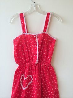 Vintage Red Heart Romper Playsuit by Baxtervintage on Etsy, $42.00