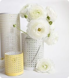 perforated radiator sheets to create Moroccan inspired lanterns - wow! really, can use this anywhere in the house as cute accessories. paint spray for some color
