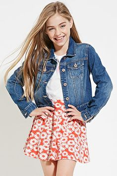 Girls Floral Print Skirt (Kids)