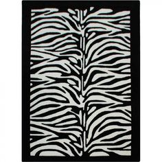 nuLOOM Cine Zebra Black / White Novelty Rug - ACR8