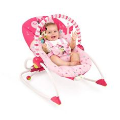 Disney Baby Minnie Mouse Bows and Butterflies Baby-to-Big Kid Rocking Seat - Walmart