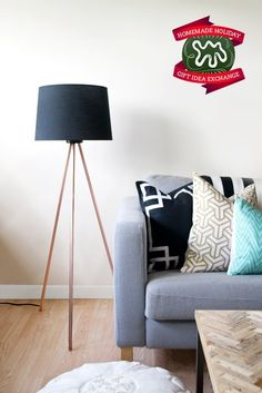 Make this Homemade Holiday Gift:   Copper Tripod Lamp   HOMEMADE HOLIDAY GIFT IDEA EXCHANGE: PROJECT #9