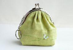 little Bird purse Metal Frame por lazydoll en Etsy