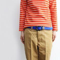 orange + royal blue + beige