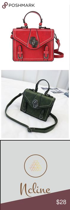 """e086eb8ef6d Faux Leather Crossbody Small crossbody purse with decorative lock, High  Grade Faux Leather 7"""""""