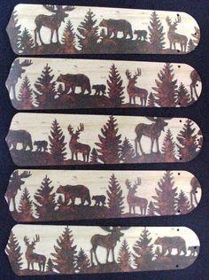 MOOSE CHARM NECKLACE EARRINGS SET Animal Totem Lodge Maple Leaf Elk Deer Cabin