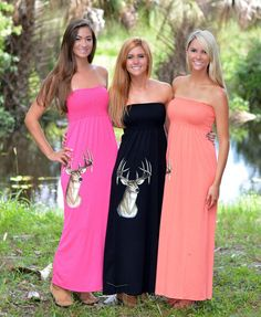 Maxi long deer hunting dresses