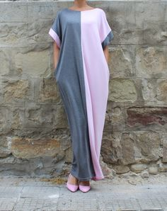 Gray Caftan Dress Maxi Dress Abaya Dress by cherryblossomsdress