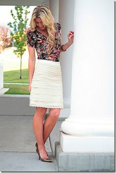 Lace Pencil Skirt Tutorial