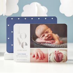 The love is in the tiny tiny details. Personalize a birth announcement for your new bundle of joy today. Perfect for girls and boys!