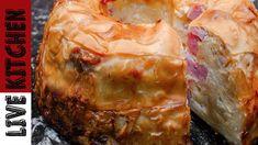 Ζαμπονοκασερόπιτα Σουφλέ #2 | Greek feta Cheese and Ham Pie- Live Kitchen Cookbook Recipes, Cooking Recipes, Ham Pie, Life Kitchen, Happy Foods, Few Ingredients, Greek Recipes, Feta, Food To Make
