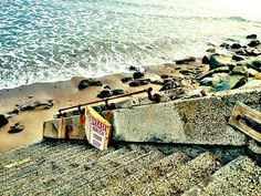 Ocean Steps Photograph Ventura California Beach By Rayelani