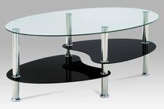 Konferenční stolek, čiré sklo / černé sklo / leštěný nerez | BeautifulHome.cz Table, Furniture, Home Decor, Homemade Home Decor, Tables, Home Furnishings, Interior Design, Home Interiors, Desk