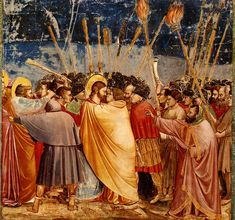 Giotto, L'Arrestation du Christ, 1304-1306, Chapelle Scrovegni, Padoue.