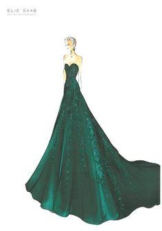 Ellie Saab gown beautiful!