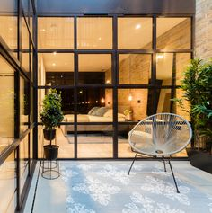 Kitchen Architecture - Home - Farlow House a contemporary home in Putney Garden Room Extensions, Aluminium Windows And Doors, Modern Windows, House Plants Decor, Tudor House, Through The Window, New Homes, Furniture, Side Return
