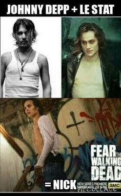 Ha! After the pilot i said that Nick looked like a young Johnny Depp...this is perfect. fear the walking dead