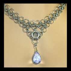 chainmaille and blue topaz necklace | Flickr - Photo Sharing!
