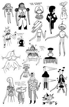 concept art by character & prop designer Michael DeForge